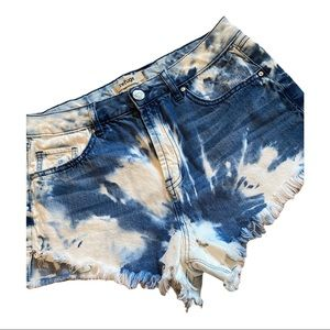 Refuge custom dye denim shorts